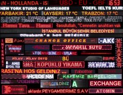 Pinar Öğrenci Led Light City İstanbul, 9 channel video installation, HD, 2′ loop, 2013-15