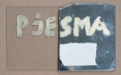 The White Poem, mirror, acrilik, 1979, 15 x 10 cm