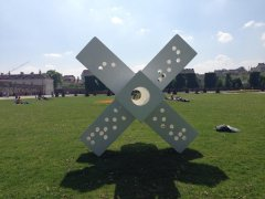 Six ways from Sunday makes for a full week, Augarten, Vienna, 2017