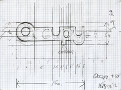Drawing Occupy A.I.R., 2012, pencil on paper, 19,5 x 25 cm