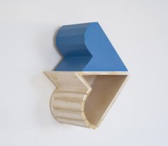 """Apostrophe, Plaster cast with wood mold, 26 x 19 x 13 cm, from """"Dirty Words; models for larger spaces"""", 2008"""