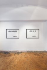 pure words, exhibition view, galerie michaela stock 2014