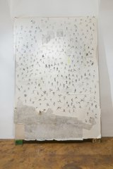playmob, 2013, mixed media on paper, mounted on cotton, 250 x 170 cm