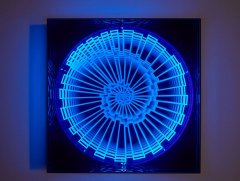 Hans Kotter, black light, metal wood plexiglas uv light, 2016, edition: 1+1AP