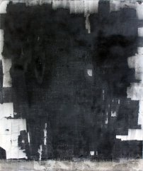 untitled, 2015, charcoal on paper mounted on cotton, 200 x 170 cm