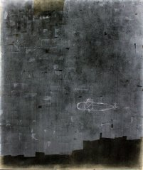 Roter Oktober, 2016, charcoal on paper mounted on cotton, 200 x 170 cm