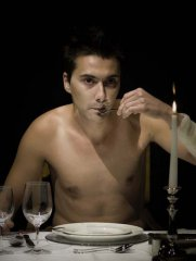Marko Marković, Selfeater/the hunger, 2009, photography, Lambda print, Performance Zagreb, 70 x 53 cm edition: 5 + 2AP