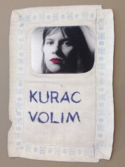 Vlasta Delimar, Kurac Volim / Dick I love, 1980 Collage, 49 x 40 cm