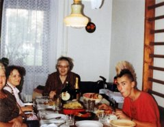 Family lunch, 1999, photo - vintage, private collection, not for sale / Family lunch, 2018, photo - Lambda C-Print, edition: 3
