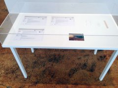 Who is Marko Markovic?, Installation, Readymade - table/plexi with documents, DNA, photo