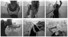 Evelyn Loschy entkoppelung, 2012, performance video, stop-motion, 4:3, BW, loop, sound, 1:24 min, edition: 5+1 AP