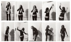 Katalin Ladik, Blackshave Poem, 1978 (Würzburg) performance, silver gelatin print 10 pcs, each 13 x 8,9 cm