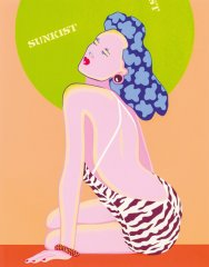 "Kiki Kogelnik, Sunkist from the series ""Women"", 1979, colour screen print on paper, 84,9 x 66,5 cm, signed, edition:198/200"