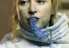 Amanda Coogan, Bubble up in Blue, 2012, performance