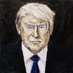 Trump, 2017, oil on canvas, 40 x 40 cm