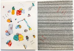 Denise Schellmann, Antikörper, 2020, diptych, mixed media on paper, each 29,7 x 21 cm