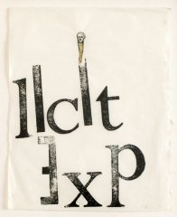 Nancy Spero, Licit Exp, 1974, hand printing collage on paper, 29 x 33 cm