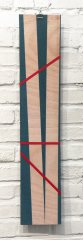 MEMENTO BOARDI (board 5), 2019, mixed media, wooden boards with colour (painted on both sides), 5 different pieces, ca. each 70 x 20 x 2 cm