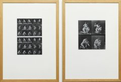 Education (After Muybridge), 1996, xerography, 2 pieces, 54,5 x 39 cm each, edition: 1/1 + 1 AP
