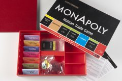 MonApoly: A Human Trade Game, 2004, 40,5 x 28 x 5 cm, signed and numbered board game, edition: 50