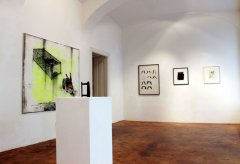 exhibition view, Interpictoriality, Galerie Michaela Stock, 2015