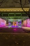 Hans Kotter, light installation REPLACED - LIGHT FLOW at Kubus EXPORT - Der Transparente Raum, Vienna 2013