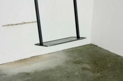 nothing is for free, kinetic-autodestructive sculpture, 2013, iron, motor, transformer, pulse width modulator, concrete / brick wall, 1 + 2 AP, dimensions variable