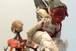 Dancing with a Ghost, detail, 2012/13, mixed media, paraffin wax, hight: 79 cm