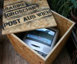 Post aus Wien, 2012, video installation, photo animation / DVD Loop 1'08''), 50 x 50 x 50 cm, 3 + 1 AP