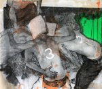 untitled, from the series Realitätsprinzip, 2012, charcoal, pastel, acrylic on canvas, 150 x 170 cm