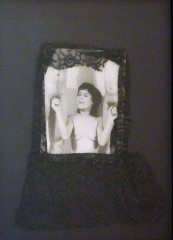 Untitled, 1981, collage; b/w photo, lace, 57 x 43 cm