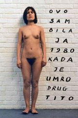 OVO SAM BILA JA 1980 KADA JE UMRO DRUG TITO / THIS WAS I 1980 WHEN COMRADE TITO DIED, 1980  colour photo, 100 X 70 cm